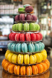Pyramid of macarons Stock Photography