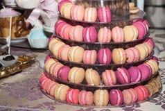 Pyramid of Macarons Royalty Free Stock Photo