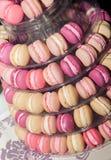Pyramid of Macarons Royalty Free Stock Photography