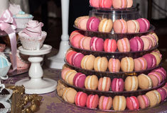 Pyramid of Macarons Royalty Free Stock Photos