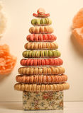 Pyramid of macaroons Royalty Free Stock Image