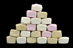 Pyramid made of marshmallows Royalty Free Stock Images