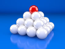 Pyramid made from Sphere Royalty Free Stock Image