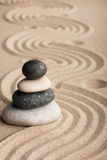 Pyramid  made of  stones standing on the sand Stock Photography