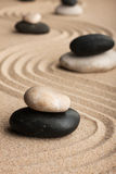 Pyramid  made of  stones standing on the sand Royalty Free Stock Images