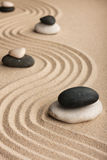 Pyramid  made of  stones standing on the sand Royalty Free Stock Image