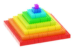 Pyramid made of toy construction bricks Stock Photography