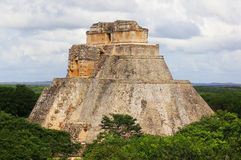 Pyramid of the Magician. Maya complex of Uxmal Royalty Free Stock Image