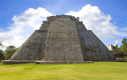 Pyramid of the Magician. Maya complex of Uxmal Stock Image