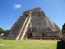 Pyramid of the Magician in Tropical Yucatan Royalty Free Stock Photo