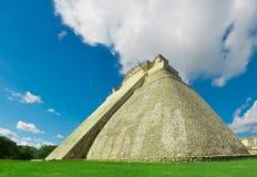 Pyramid of the Magician in Uxmal, ancient Maya city. Yucatan, Me Royalty Free Stock Photo