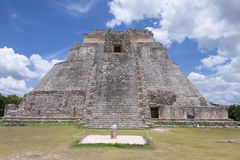 Pyramid of the Magician in Uxmal Royalty Free Stock Image