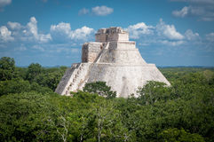 Pyramid of the Magician, Uxmal Maya ruins, Mexico Stock Photos