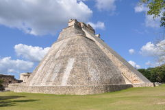 Pyramid Of The Magician , Uxmal royalty free stock image