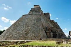 Pyramid of the Magician in Uxmal, Yucatan, Mexico stock photography