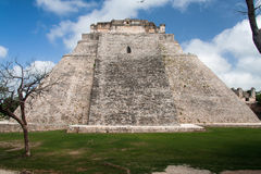 The Pyramid of the Magician Uxmal Yucatan Mexico Stock Images