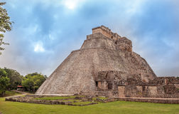 Pyramid of the Magician in Uxmal, Yucatan, Mexico Stock Image