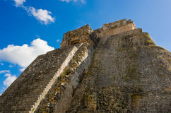 Pyramid of the Magician in Uxmal, Yucatan, Mexico Royalty Free Stock Photography