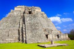 Pyramid of the Magician, Uxmal, Yucatan, Mexico Stock Images