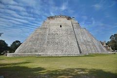 The Pyramid of the Magician, Uxmal, Yucatan Peninsula, Mexico. Royalty Free Stock Photography