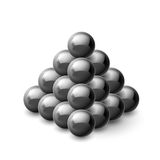 Pyramid of magnetic balls Royalty Free Stock Image