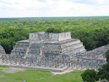 Pyramid maya with the jungle. Behind - Chichen Itza - Mexico Royalty Free Stock Images