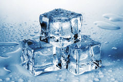 Pyramid of the melted ice cubes Royalty Free Stock Images