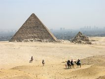 The Pyramid of Menkaure. Giza, Egypt stock image