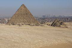 The Pyramid of Menkaure Royalty Free Stock Photo