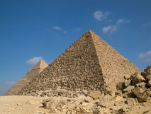 Pyramid of Menkaure Royalty Free Stock Photos