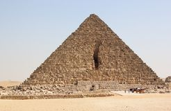 Pyramid of Menkaure, Giza, Cairo, Egypt. The Giza Necropolis is an archaeological site on the Giza Plateau, on the outskirts of Cairo, Egypt. This complex of Royalty Free Stock Photos