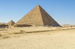 Pyramid of Menkaure at Giza, Egypt Stock Photo