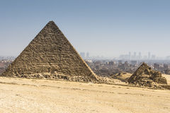 Pyramid of Menkaure, Giza, Egypt Stock Image