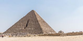 Ancient pyramid in the Sahara desert stock images