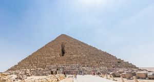 The Pyramid of Menkaure in Egypt royalty free stock image