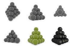 Pyramid of metal balls Royalty Free Stock Photos