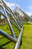 Pyramid of metal Stock Photos