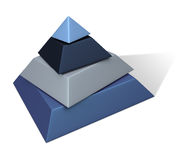Pyramid. Metalic Paint Pyramid - 3D Rendering. Isolated on white Royalty Free Stock Images