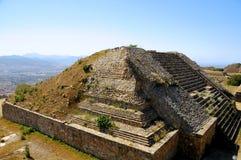 Pyramid, Mexico. The pyramid ruins of Monte Alban - Oaxaca, Mexico Stock Images