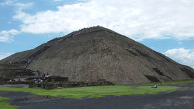 Pyramid in Mexico. Ancient Teotihuacan pyramid in Mexico, Latin America Royalty Free Stock Image