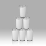 Pyramid of milk Royalty Free Stock Images