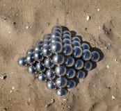 Pyramid of the mirror balls Stock Photography
