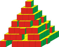 Pyramid with missing blocks Royalty Free Stock Photos