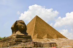 Pyramid. A  model of a famous building in Egypt Royalty Free Stock Image