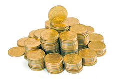Pyramid of money Stock Image