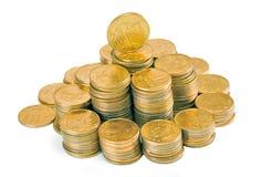 Pyramid of money Stock Image