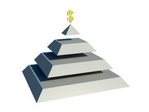 Pyramid money. Illustration without environment Stock Photography