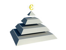 Pyramid money. Illustration without environment Royalty Free Stock Photo