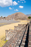 The Pyramid of the Moon and other ancient ruins  at Teotihuacan in Mexico Stock Photos