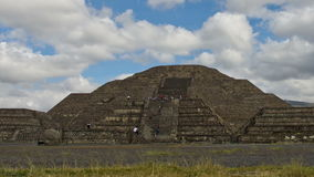 Pyramid of the Moon and the road of death in Teotihuacan, Mexico stock video footage